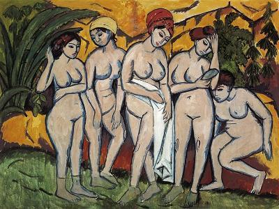 Woman Bathing, 1911-Ernst Ludwig Kirchner-Giclee Print