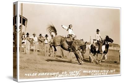 Woman Bronco Rider