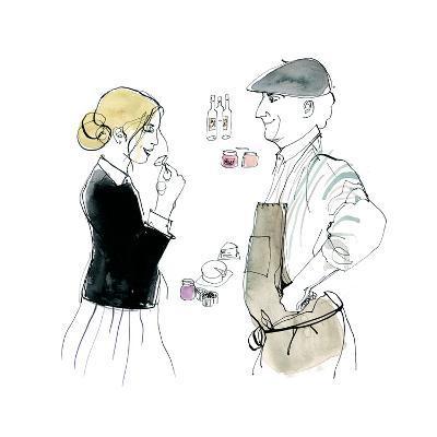 Woman Buying Groceries, 2014-Toril Bækmark-Giclee Print