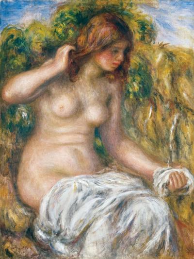 Woman by Spring, 1914-Pierre-Auguste Renoir-Giclee Print