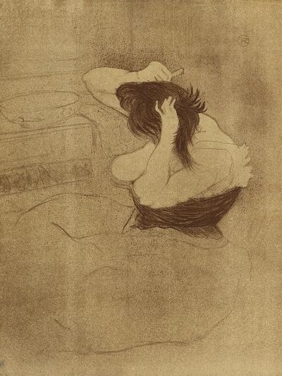 Woman Combing Her Hair - La Coiffure, Plate VII from Elles; Femme Qui Se Peigne - La Coiffure,?-Henri de Toulouse-Lautrec-Giclee Print