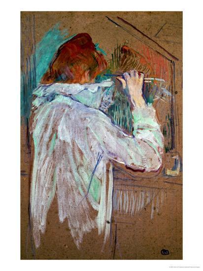 Woman Curling Her Hair-Henri de Toulouse-Lautrec-Giclee Print