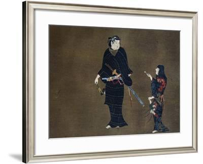 Woman Delivering Love Letter to Her Master--Framed Giclee Print