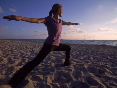 Woman Doing Yoga, Miami, FL-Cheyenne Rouse-Photographic Print