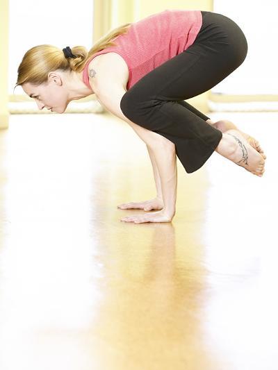 Woman Doing Yoga--Photographic Print