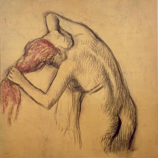 Woman Drying Herself-Edgar Degas-Giclee Print