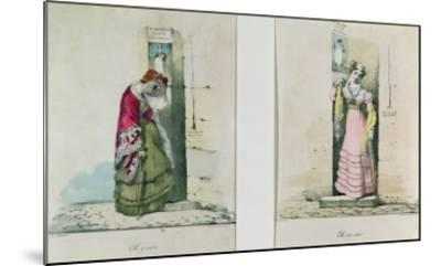 Woman Entering and Leaving an Abortion Clinic, Engraved by Godefroy Engelmann- Wattier-Mounted Giclee Print