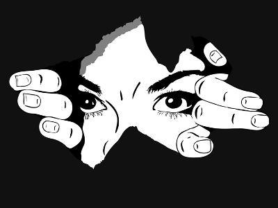 Woman Eyes from the Hole- Artex67-Art Print