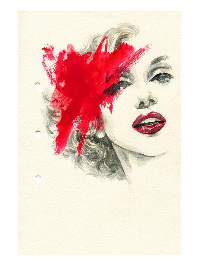 Woman Face PaintedIllustration--Art Print