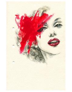 Woman Face PaintedIllustration