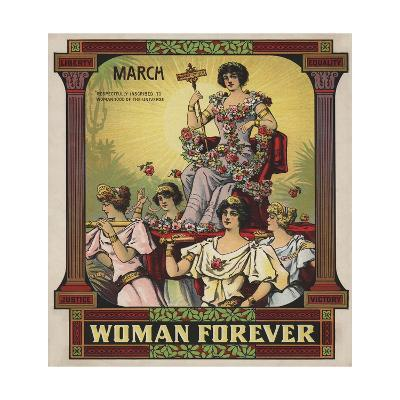 Woman Forever Sheet Music Cover--Giclee Print