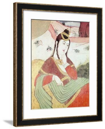 Woman from the Court of Shah Abbas I, 1585-1627--Framed Giclee Print