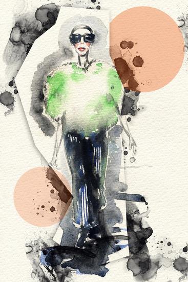 Woman . Hand Painted Fashion Illustration-Anna Ismagilova-Art Print