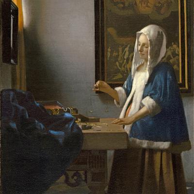 Woman Holding a Balance, C.1664-Johannes Vermeer-Giclee Print