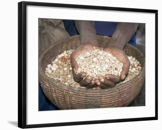 Woman Holding Handfuls of Grain, Soddo, Ethiopia, Africa-D H Webster-Framed Photographic Print