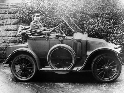 Woman in a 1911 Convertible Renault Ax, C1911