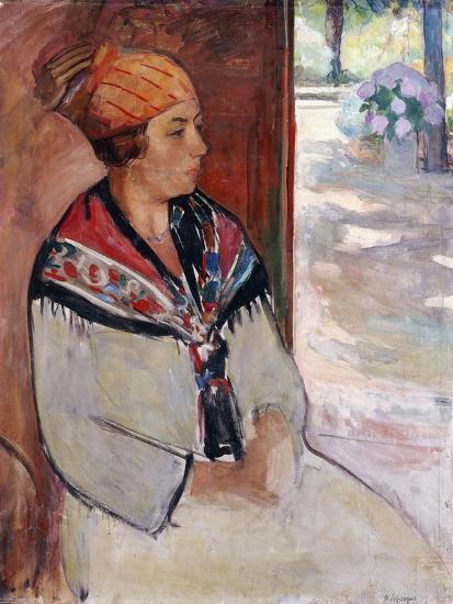 Woman in a Bandana at Prefailles; Femme Au Madras a Prefailles, 1922-Henri Lebasque-Giclee Print