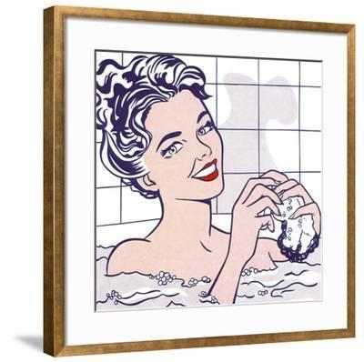 Woman in a Bath-Roy Lichtenstein-Framed Art Print