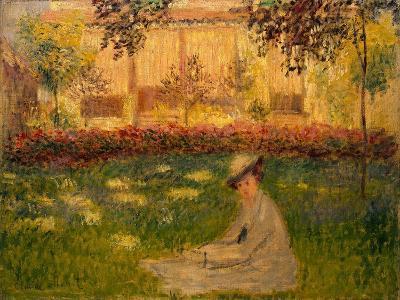 Woman in a Garden, 1876-Claude Monet-Giclee Print
