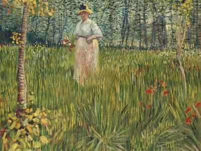Woman in a Garden (Femme Dans Un Jardin), 1887-Vincent van Gogh-Giclee Print