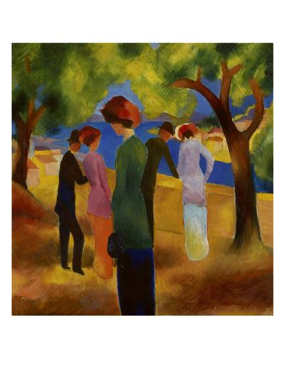 Woman in a Green Jacket, 1913-Auguste Macke-Giclee Print