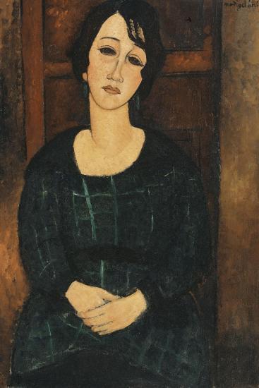 Woman in a Plaid Dress, 1916-Amedeo Modigliani-Giclee Print