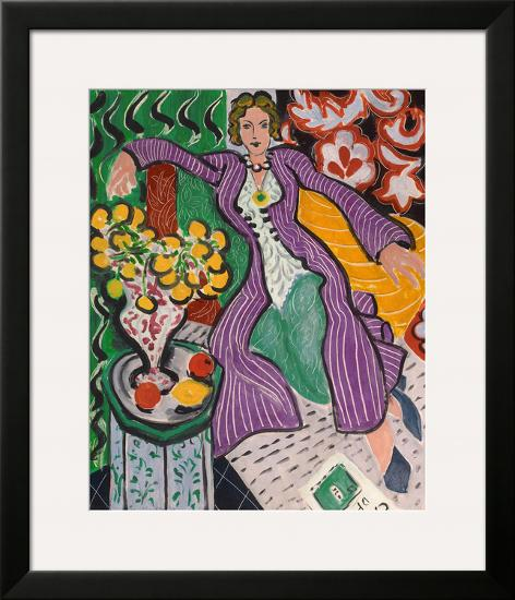 Woman in a Purple Coat, 1937-Henri Matisse-Framed Giclee Print