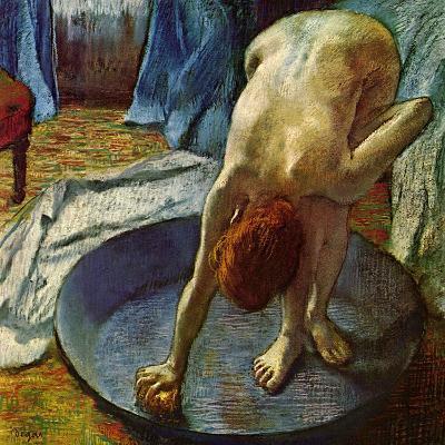 Woman in a Tub, 1886-Edgar Degas-Giclee Print