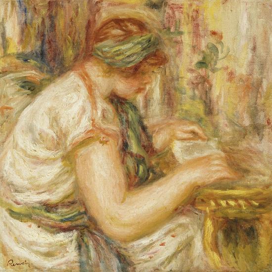 Woman in an Arab Blouse Reading, 1919-Pierre-Auguste Renoir-Giclee Print