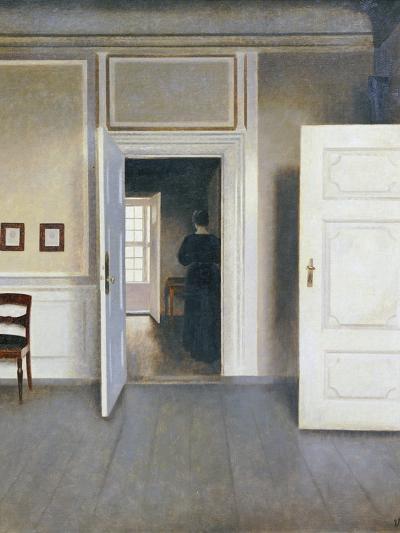 Woman in an Interior, Strandgrade 30, 1901-Vilhelm Hammershoi-Giclee Print