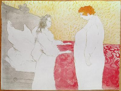 Woman in Bed, Waking Up, 1896-Henri de Toulouse-Lautrec-Giclee Print