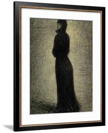 Woman in Black-Georges Seurat-Framed Giclee Print