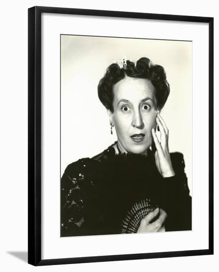 Woman in Disbelief--Framed Photo