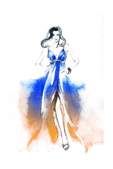 Woman in Dress-Anna Ismagilova-Art Print