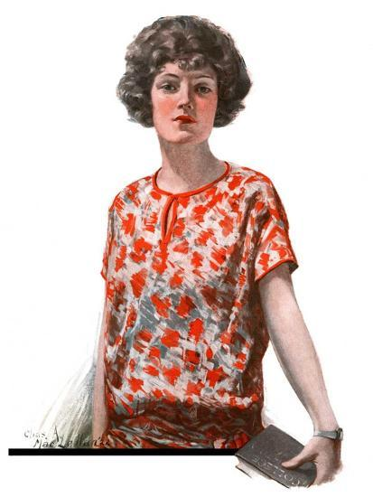 """Woman in Floral Print,""January 27, 1923-Charles A. MacLellan-Giclee Print"