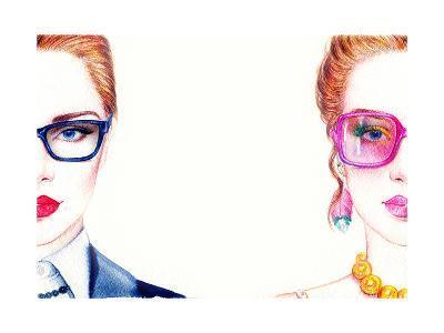 Woman in Glasses-Anna Ismagilova-Art Print