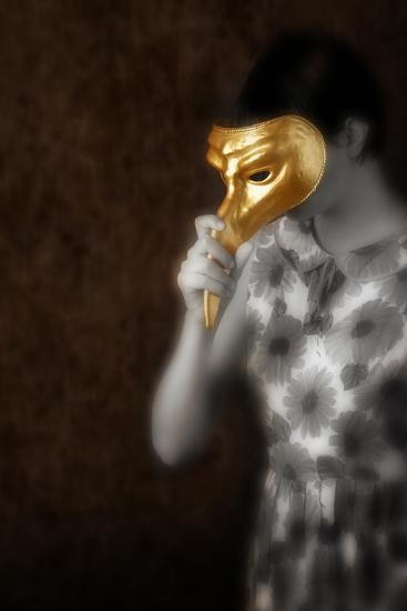 Woman in Gold Mask-Ricardo Demurez-Photographic Print
