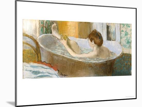 Woman in Her Bath, Sponging Her Leg, circa 1883-Edgar Degas-Mounted Giclee Print