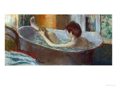 Woman in Her Bath, Washing a Leg, 1883-1884-Edgar Degas-Giclee Print