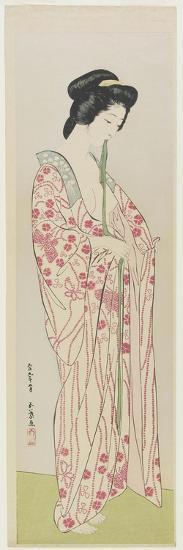 Woman in Kimono Undergarment, May 1920-Goyo Hashiguchi-Giclee Print