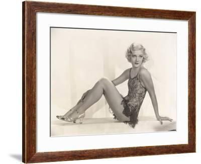 Woman in Lace Lingerie--Framed Photo