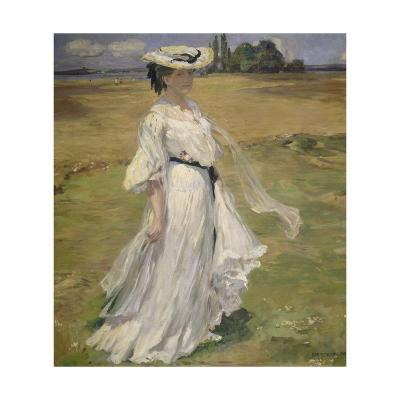 Woman in Lake Constance Landscape, 1904-Robert Weise-Giclee Print