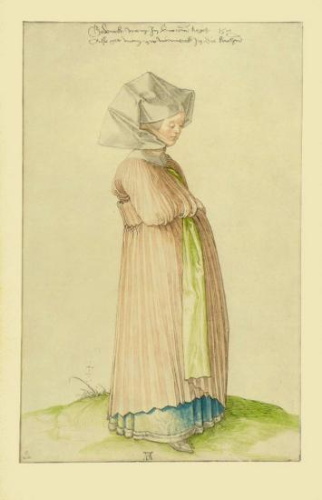 Woman in Nuremberg in a Robe for Church-Albrecht D?rer-Collectable Print