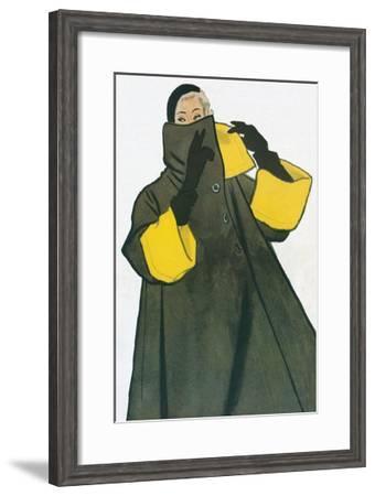Woman in Overcoat--Framed Giclee Print