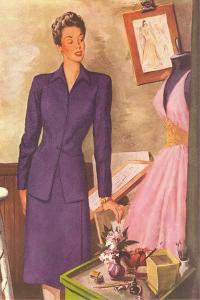 Woman in Purple Suit
