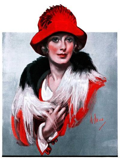 """Woman in Red Hat,""March 3, 1923-Neysa Mcmein-Giclee Print"