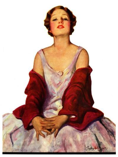 """""""Woman in Red Stole,""""July 22, 1933-Penrhyn Stanlaws-Giclee Print"""