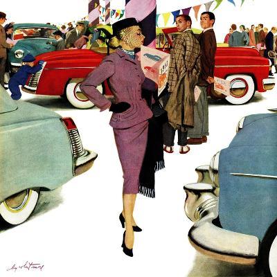 """Woman in Showroom"", January 5, 1952-M^ Coburn Whitmore-Giclee Print"