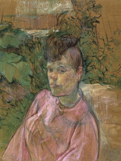 Woman in the Garden of Monsieur Forest, 1889-1891-Henri de Toulouse-Lautrec-Giclee Print