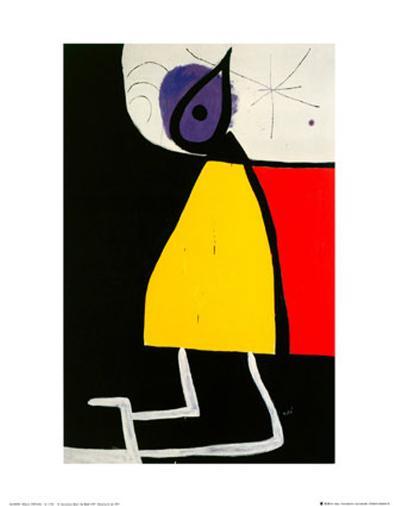 Woman in the Night-Joan Mir?-Art Print